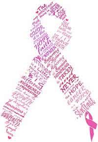 Lazo de apoyo contra el cáncer de mama